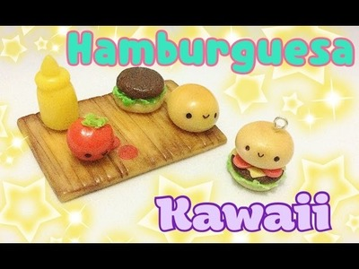 Manualidades Kawaii. Tutorial de porcelana fría. Figurine de hamburguesa