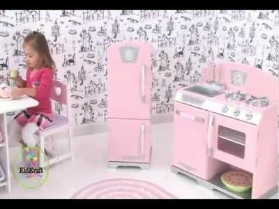 Nevera de juguete y cocina rosa de KidKraft en EurekaKids