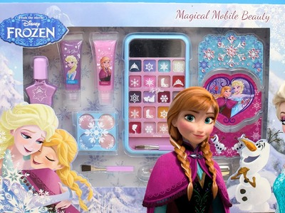 Set de Maquillaje de Frozen en español | Maquillaje de Elsa de Frozen | Juego para maquillar muñecas