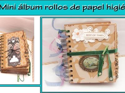 Tutorial mini album cartones de papel higienico