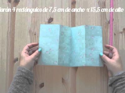 Tutorial Scrapbooking - Mini álbum San Valentín: muy fácil