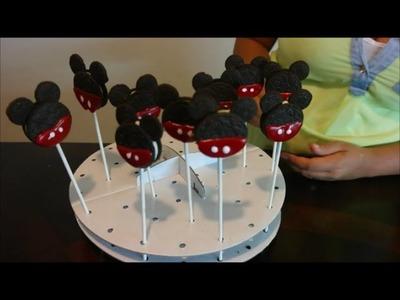 Cómo Hacer Mickey Mouse Cookie Pops. Paletas de Mickey Mouse