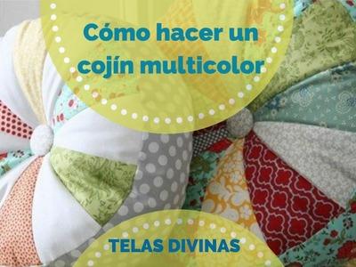 Cómo hacer un Cojín Multicolor, en Español