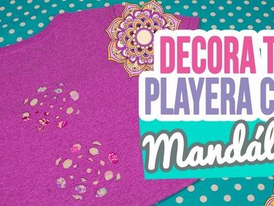 DIY Decora tu Playera con Mandalas | Renueva tus Playeras SIN coser | Mini Tip # 96 Catwalk