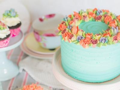 Flores de buttercream con boquillas rusas - Receta - María Lunarillos | tienda & blog