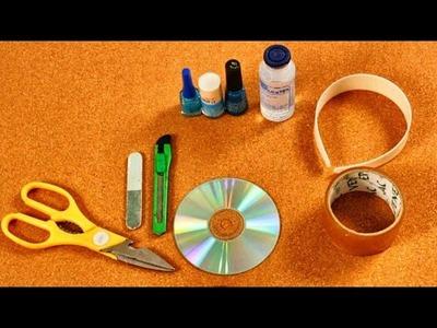 Hermosos Cintillos con Cds Reciclados - Reciclaje - Facil y Sencillo