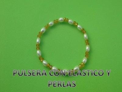 Pulsera con Perlas, bonita y facil