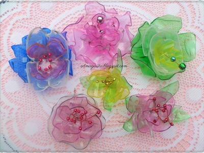 Tutorial: Reciclando Rosas Cristal 01 (Botellas de Plastico)