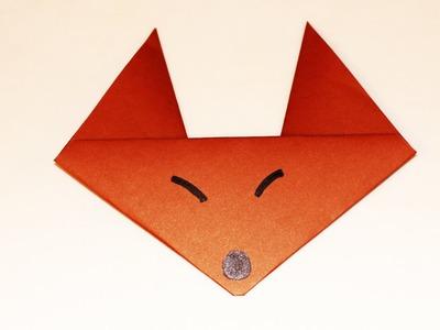 Como hacer un Zorro de papel - ANIMALES DE PAPEL - zorro