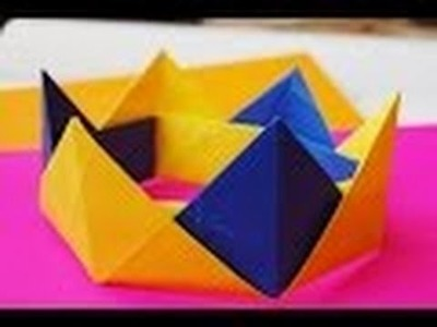 Corona de origami - Cómo hacer una Corona de Papel de Origami?