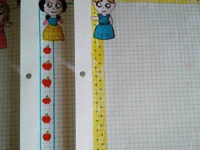 Márgenes para tus cuadernos. princesas kawai