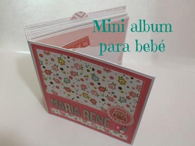 Mini album scrapbook para bebé - Baby Girl Mini Album - Sacrapbook en español * Creaciones Izzy