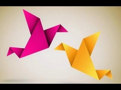 Origami: Cómo hacer un pequeño pájaro de papel - Fácil y plegable divertido
