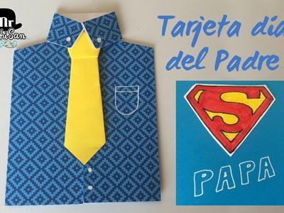 Tarjeta para el día del padre : Super papá