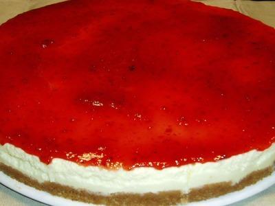 Tarta de queso philadelphia fria ♥ Cold Cheesecake