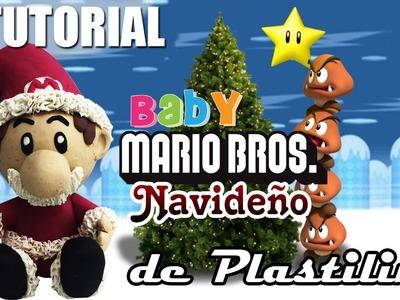 Tutorial Baby Mario Bros Navideño de Plastilina
