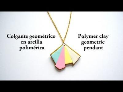 Colgante geométrico en arcilla polimérica - Polymer clay geometric pendant