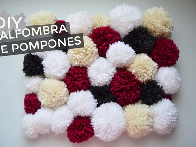 DIY alfombra de pompones (pompom rug)! | The White DIY