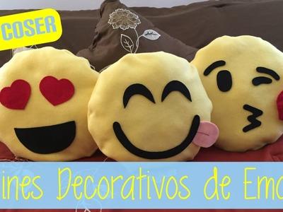 [DIY] Cojines decorativos de emojis (super fáciles de hacer y sin coser) - Cojines de emoticonos