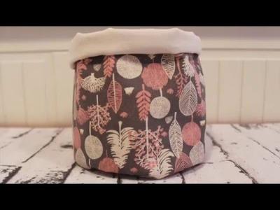 DIY: Cómo hacer una cesta de tela redonda