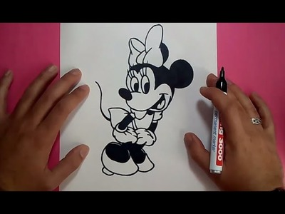 Como dibujar a Minnie Mouse paso a paso - Disney | How to draw Minnie Mouse - Disney