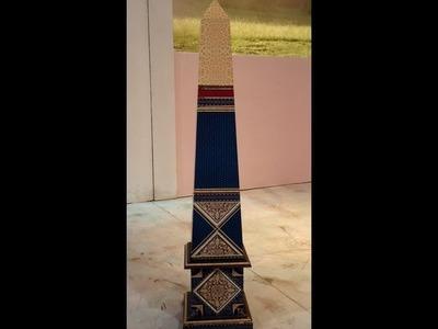 Como hacer contracolado artístico - Obelisco