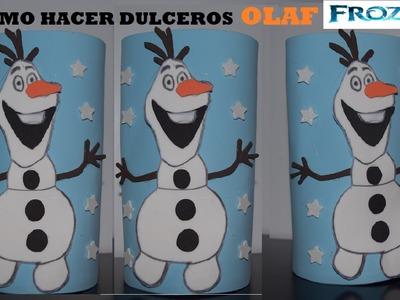 COMO HACER DULCERO DE OLAF FROZEN CON FOAMI