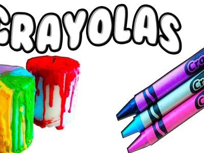★ ¡Fabrica VELAS arcoiris con CRAYOLA!  ★ || DECORA TU CUARTO