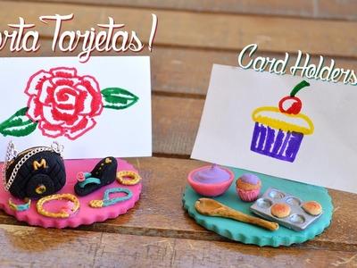 Porta Tarjetas de PORCELANA FRÍA: Bolso, Zapatilla, Joyeria & Cupcakes ♥ Clay Card Holders