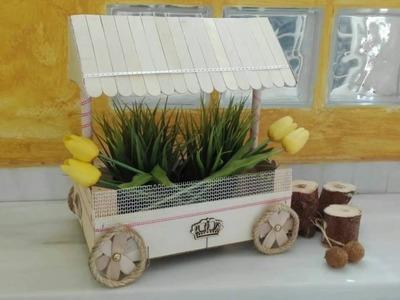 Carrito de chuches # 3 reciclando una caja de fresa