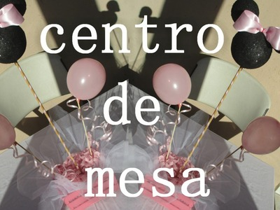 Centro de Mesa Baby Shower Minnie Mouse facil y economico (peticion)