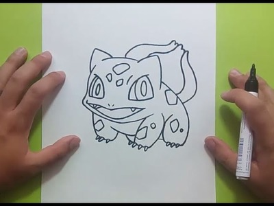 Como dibujar a Bulbasaur paso a paso - Pokemon | How to draw Bulbasaur - Pokemon