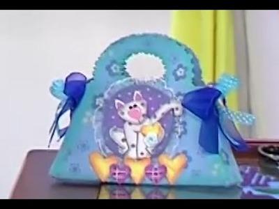 Como hacer un Bolso o Cartera para Niñas en Foamy- Hogar Tv  por Juan Gonzalo Angel