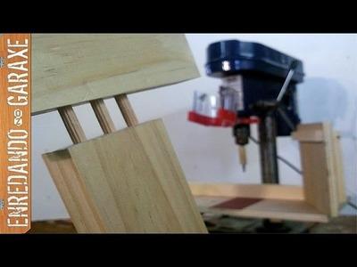 Hacer uniones con tubillones en el taladro de columna