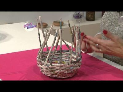 Silvina Buquete - Bienvenidas en HD - Explica como cerrar canastas de cestería.