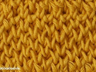Aprende a tejer el punto ¡ PANAL ! a dos Agujas paso a paso I cucaditasdesaluta