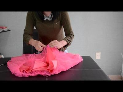 Como hacer una falda de tul