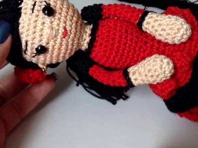 Como tejer en la técnica amigurumi muñeca vestida de flamenco By Petus Ochoa .