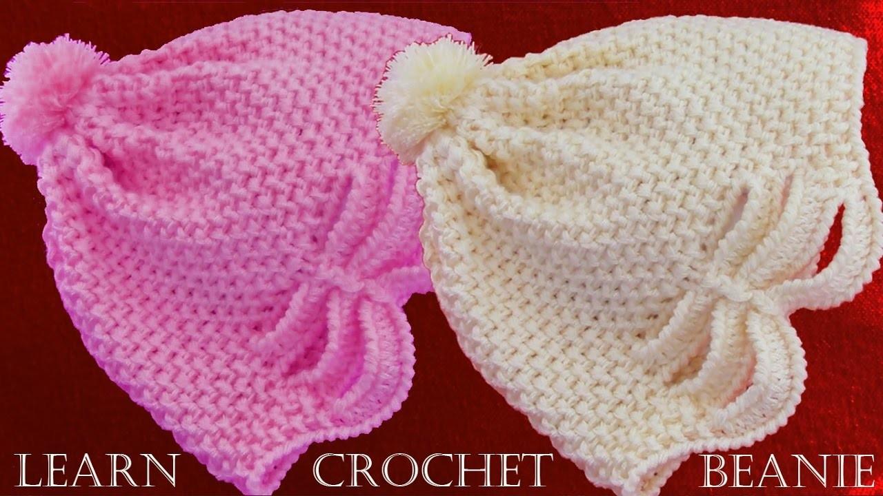 Como tejer gorro a Crochet o ganchillo en relieve  - Learn crochet beanie