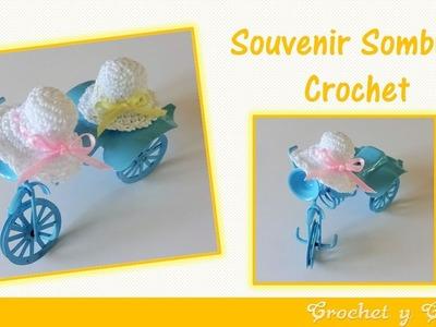 Souvenir a crochet para baby shower – bautizo sombrero paso a paso