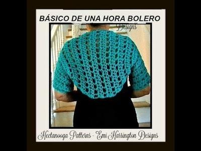SPANISH version:  Como hacer un GANCHILLO BOLERO SUÉTER,  como hacer tejer,