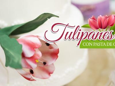 Tulipanes con pasta de goma