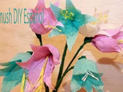 Como Hacer Flores de Papel Crepe Faciles y Bonitas