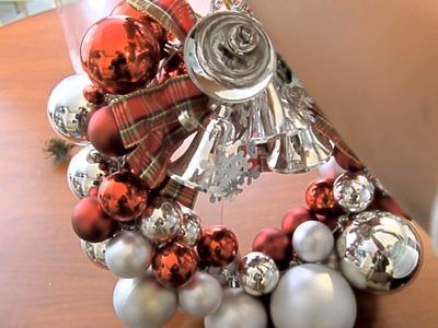 Decoración navideña Corona de Bolas y centros de mesa