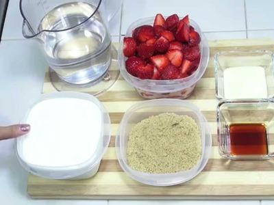 Gelatina de Fresas con yogurt - Día de las Madres