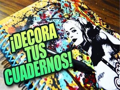 ¡DECORA TUS CUADERNOS FÁCIL! Suicide Squad | Dulce Spinoza