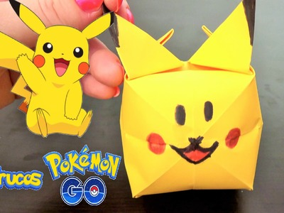 Pokemon Pikachu Origami - Como hacer Pikachu de Papel - How to make Pikachu