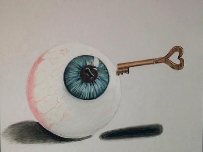 """Abre los ojos de una vez """"Dibujando frase hecha"""" en español"""