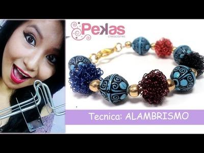 Alambrismo: Como hacer bolas de alambre de Tiara : Pekas Creaciones