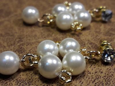 Aros de 5 perlas. Clase #18!!!